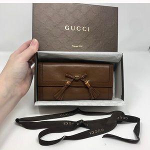 Gucci Continental wallet in box!  EUC!